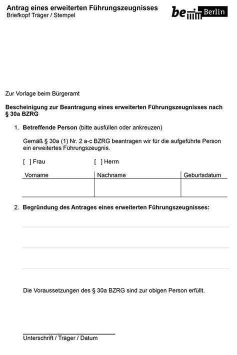 Antrag Führungszeugnis Vorlage F 252 Hrungszeugnis F 252 R Ehrenamtliche Jetzt Kostenlos Und Unterwegs In Spandau