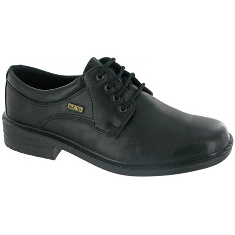 cotswold sudeley black leather waterproof lace shoe