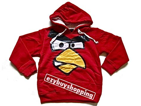 Sweater Angry Bird Black angry birds jumper winter hoody boys hoodie ebay