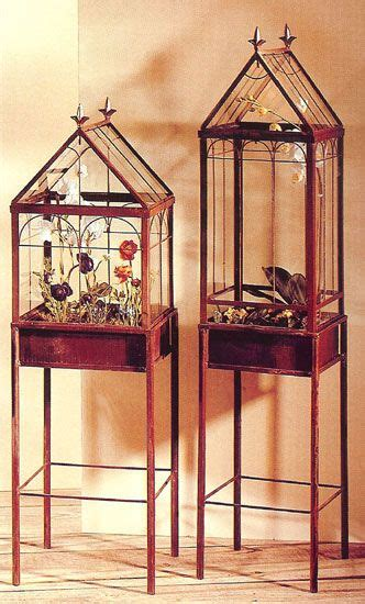 wooden wardian cases terrariums  indoor plants