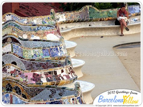 gaudi bench barcelona 2018 park guell pictures barcelona