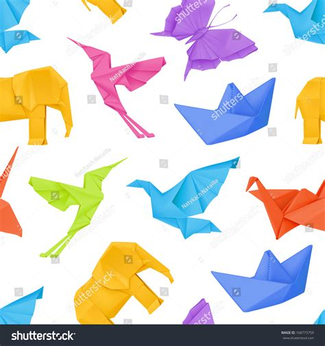 origami pattern vector origami multicolored vector seamless pattern 168773759