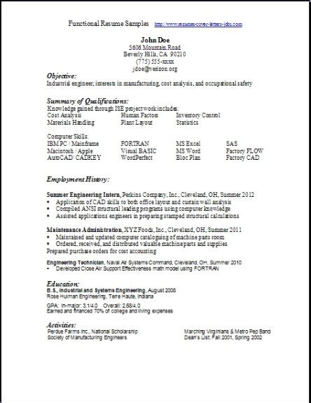 functional resume format free functional resume sles exles sles free edit with word