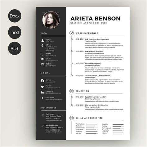 simple resume edit clean cv resume cv resum 233 et gr 233 es
