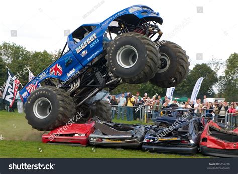 monster truck show uk 4x4 monster truck at uk car show stock photo 5659210