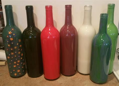 diy painted wine bottles how to paint wine bottles in 5 minutes painted wine bottles bottle