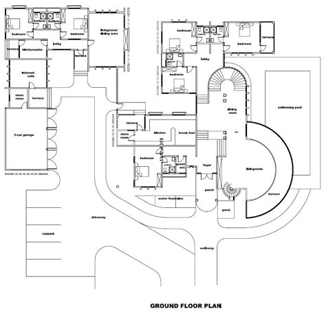 Modern Castle Floor Plans Home Interior Design New Large House Plans