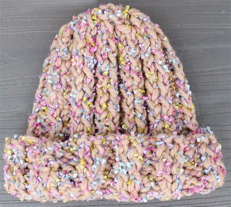 diy knit beanie layered yarn beanie knitting pattern michele