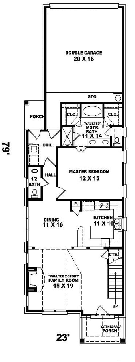 Narrow Lot Plans by Enderby Park Narrow Lot Home Plan 087d 0099 House Plans