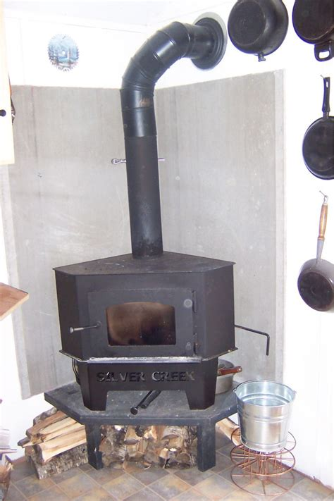 Handmade Wood Stove - small cabin wood stove setup small cabin forum 3