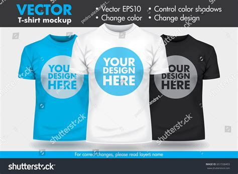 mock up your design here replace design your design change colors stock vector