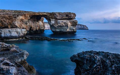 wallpaper 4k rock malta rock sea coast hd nature 4k wallpapers images