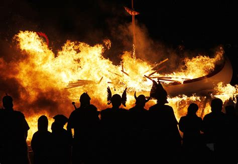 viking fire boat stunning pics how to set a viking boat on fire rediff