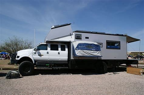 Patio Awning Reviews Huge Ford F650 Overbilt Extended Crew Cab Box Camper