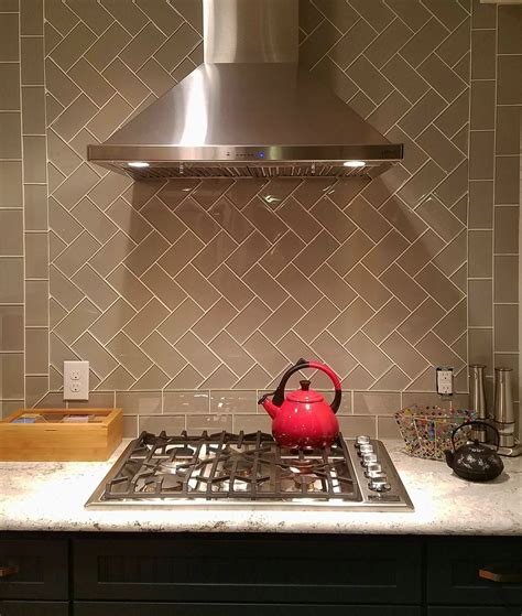 Tile Borders For Kitchen Backsplash by Taupe Glass Subway Tile Kitchen Backsplash Subway Tile