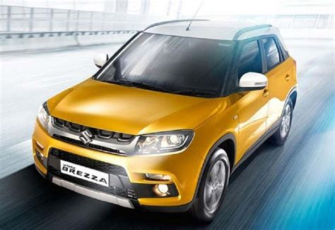 car paint price india maruti vitara brezza to be introduced in 6 variants