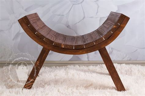 Curved Stool by Newborn Wood Curved Posing Stool Bench Slatted
