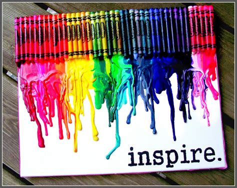 art design ideas tips melted crayon