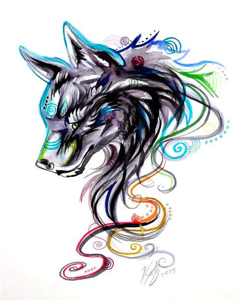 unique girly tattoos designs cool girly wolf design