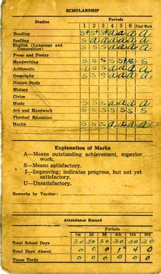 report card from the 1950 template 1000 images about grandmas one room schoolhouse on
