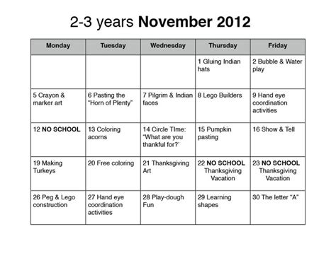 preschool lesson plans for october november preschool
