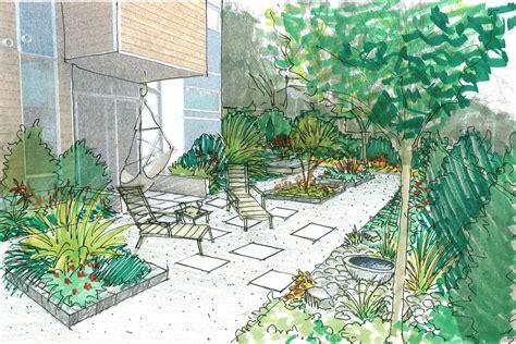 sketch of the week south seattle garden erin lau design