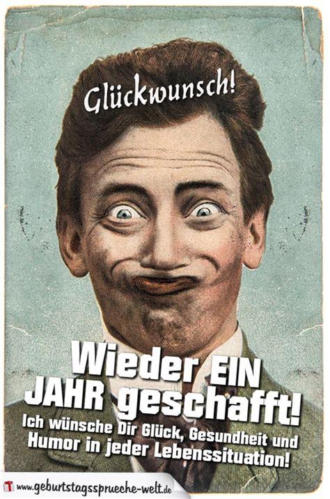 Geburtstag Lustig Mann by Wieder Ein Jahr Geschafft Retro Geburtstagskarte
