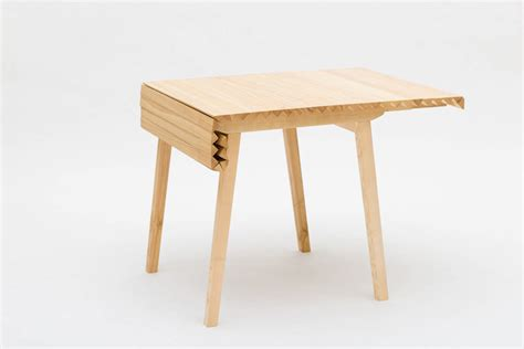 small wooden extendable table wooden cloth extendable table by nathalie dackelid