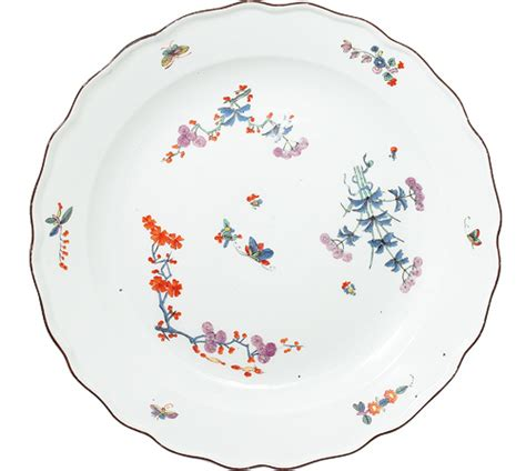 butterfly pattern in c meissen charger with kakiemon butterfly pattern c 1740