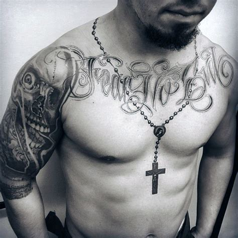tattoo around neck chest 52 rosary tattoos for men