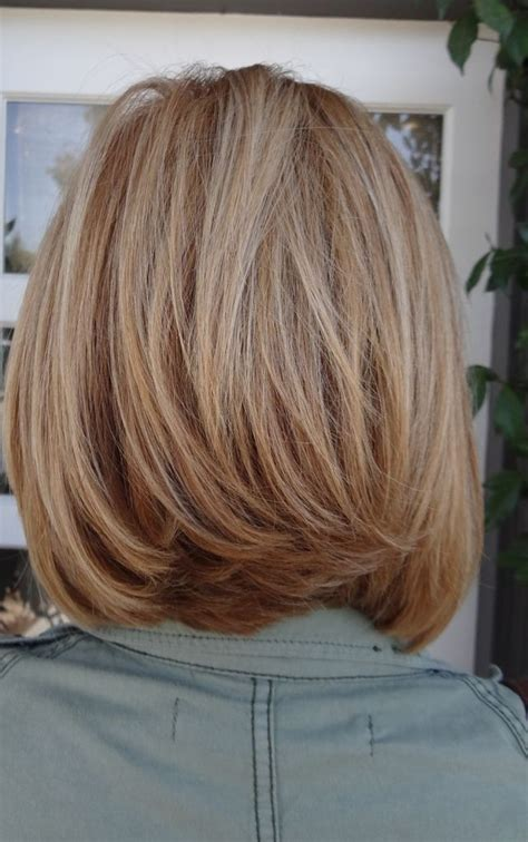 how to cut medium or thick hair in a blunt 12 pretty layered hairstyles for medium hair popular