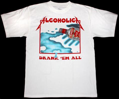 Alcoholica Tshirt metallica alcoholica em all kill em all vodka s