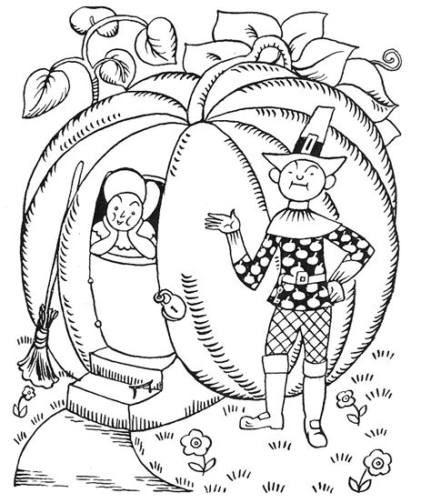 free coloring pages of peter peter pumpkin eater