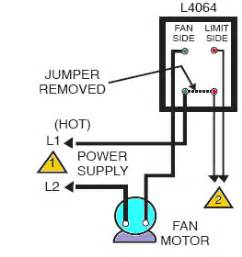 how to install and wire the honeywell l4064b combination furnace fan limit switch a