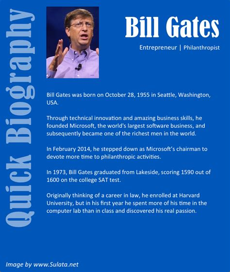 bill gates little biography bill gates biography sulata net