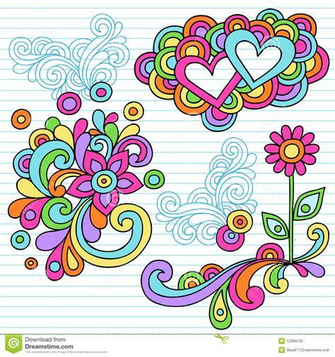 free doodle design elements psychedelic notebook doodle design elements vector royalty