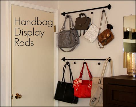 ideas for hanging backpacks curtain rods and shower curtain hooks for purse storage
