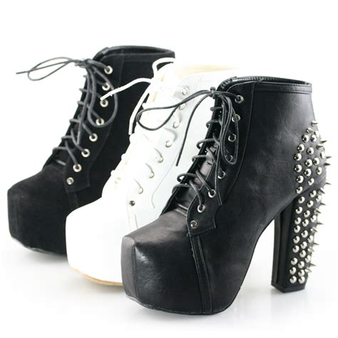 laced up high heel boots high heel lace up ankle boots heels me