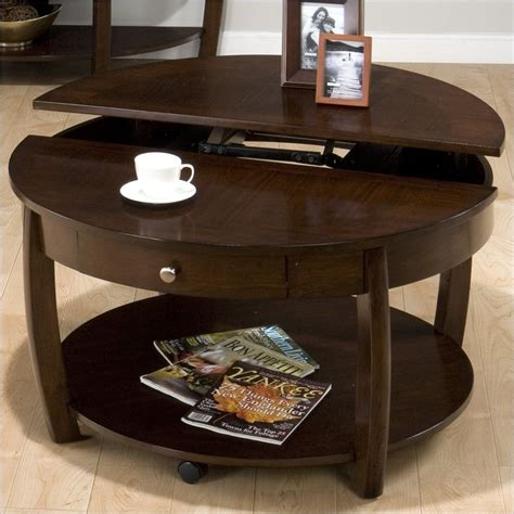 jofran lift top coffee table jofran riverside lift top cocktail table in brown