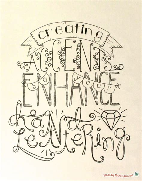 tutorial lettering pdf hand lettering accents tutorial made by marzipan