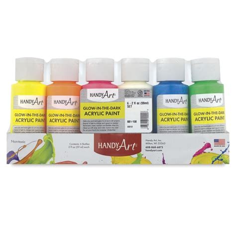 acrylic paint glow in the handy glow in the acrylic paint blick materials