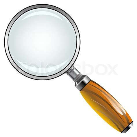 illustrator tutorial magnifying glass magnifying glass with wooden handle against white