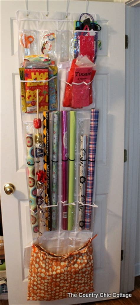 The Door Wrapping Paper Organizer by Gift Wrap Storage From An The Door Shoe Organizer