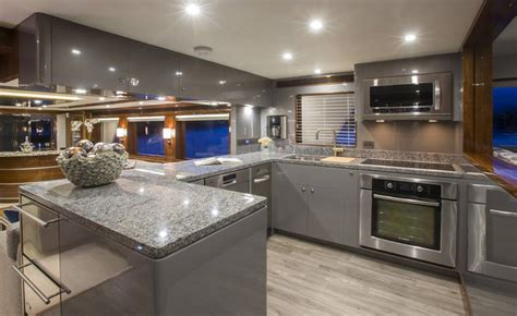 yacht galley layout ti punch superyacht galley yacht charter superyacht news