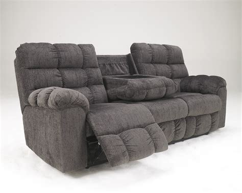 Ashley 5830089 Acieona Slate Color Reclining Sofa With Reclining Sofa With Table