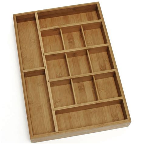 bamboo adjustable drawer organizer in desk drawer organizers