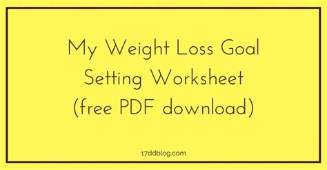 5 weight loss goal pin book review worksheet elementary image search results
