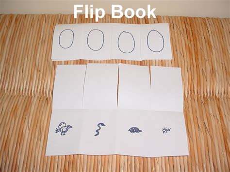 How To Make A Paper Flip Book - bird nest snack