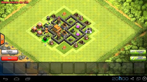 coc layout for th4 clash of clans th4 layout hibrido perfect youtube