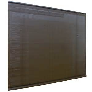 Patio Roll Up Blinds Shop Style Selections Chestnut Light Filtering Pvc Roller